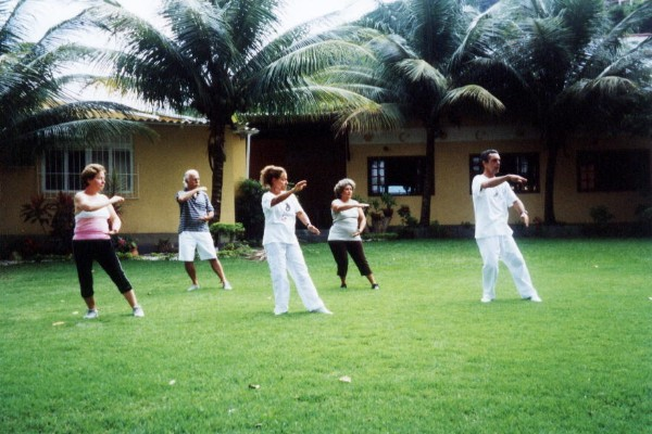 group practicing tai chi